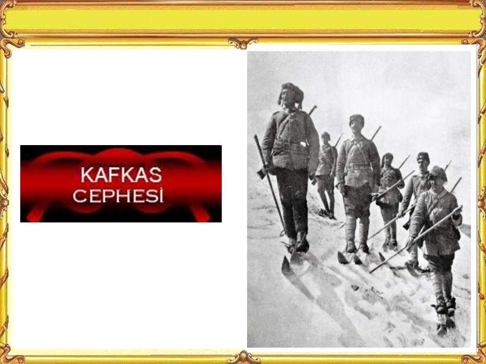Savaştaki Cephelerimiz Kafkas Cephesi Çanakkale Cephesi Irak Cephesi Kanal Cephesi Sina-Filistin Cephesi Suriye Cephesi Bu cepheler dışında müttefiklerimize Romanya Makedonya ve Galiçya Cephelerinde yardım gönderdik