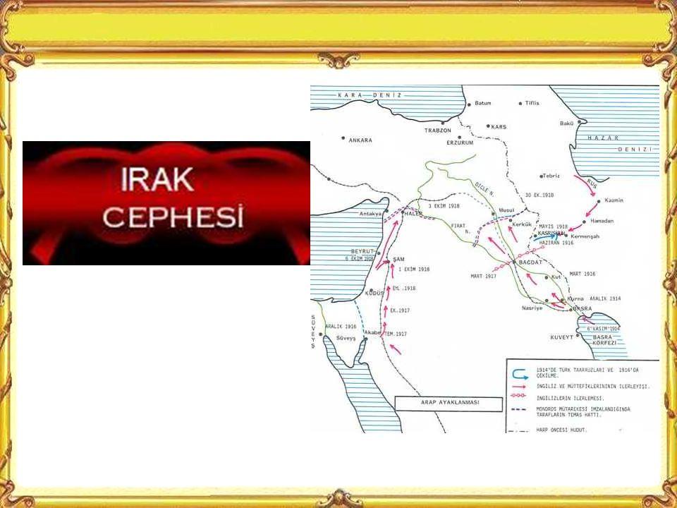 Kaybettiğimiz Mısır'ı geri almak ve İngiltere'nin sömürgelerine giden yolu kesmek için bizim saldırımızla açılan cephedir.