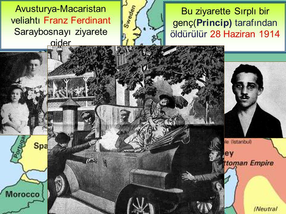 1914'te başlayıp 1918'e kadar sürecek olan bu savaşı başlatan olay nedir.