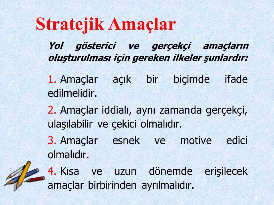 5 5.Amaçlar her düzeyde birbiriyle uyumlu olmalıdır.