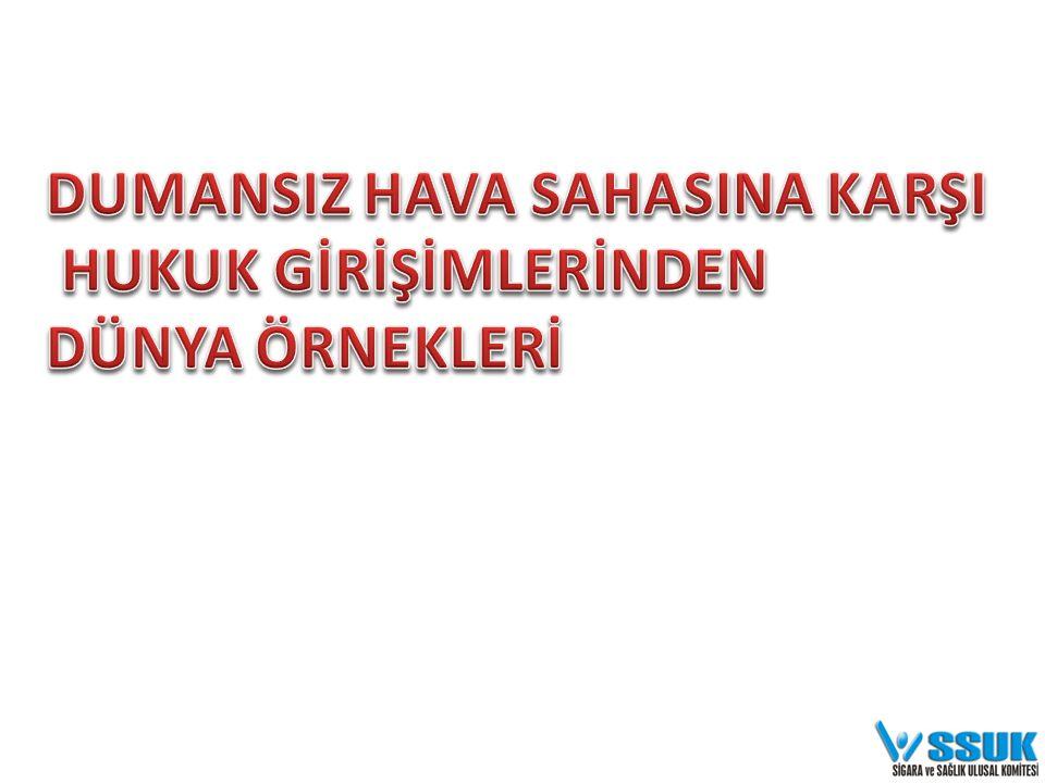 YANDAŞ ELDE ETME VE YANDAŞLIKLARI GÜÇLENDİRME • Türkiye'yi ziyaret eden toplam turist sayısını olumsuz yönde etkileyebileceği savını kullanarak Seyahat Acentaları Birliğinin sigara yasağına karşı çıkmasının sağlanması (E.