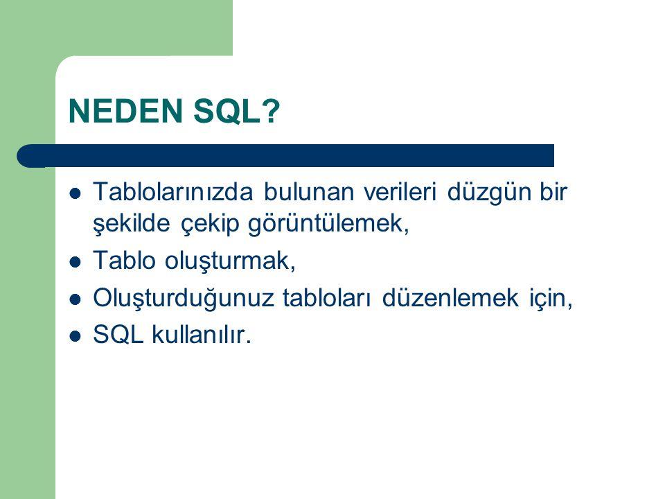 NEDEN SQL.