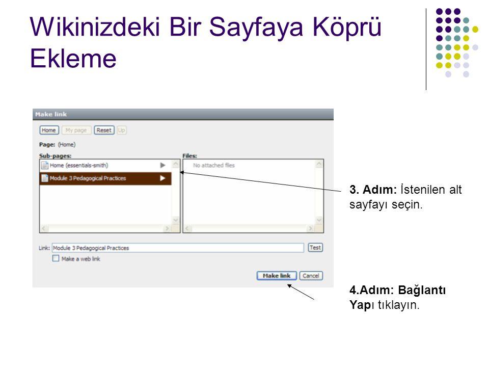 Wikinizdeki Bir Sayfaya Köprü Ekleme  5.