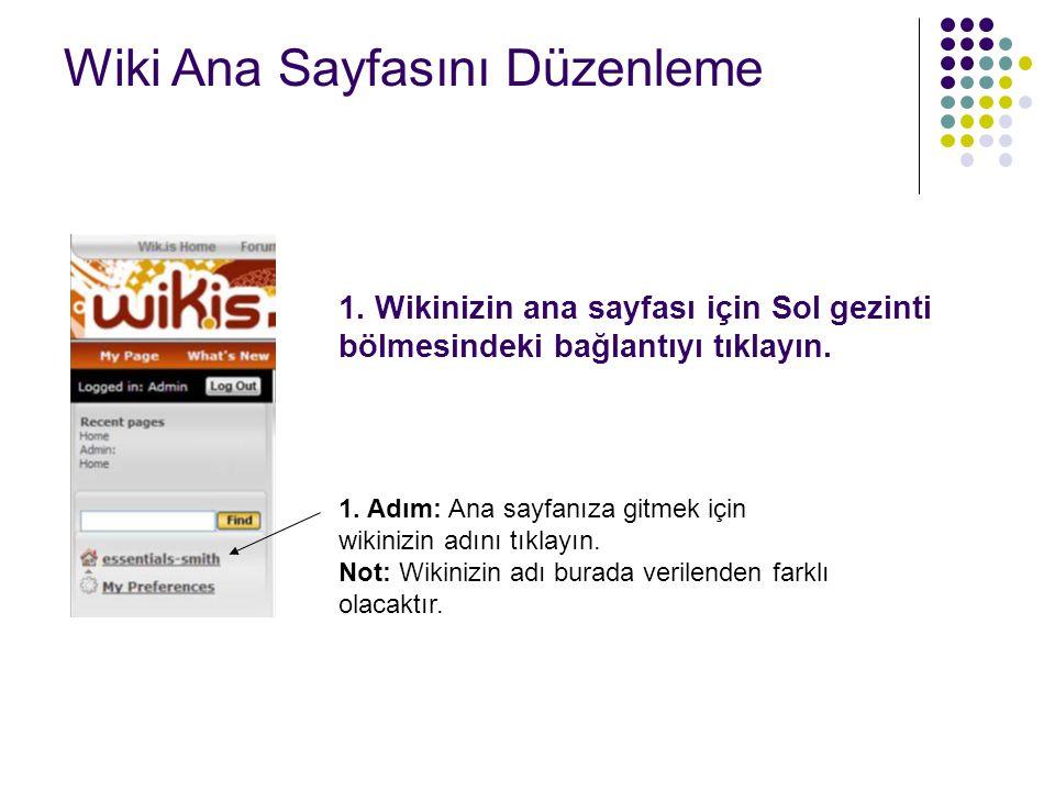 2. Adım : Sayfayı düzenleyi tıklayın. Wiki Ana Sayfasını Düzenleme