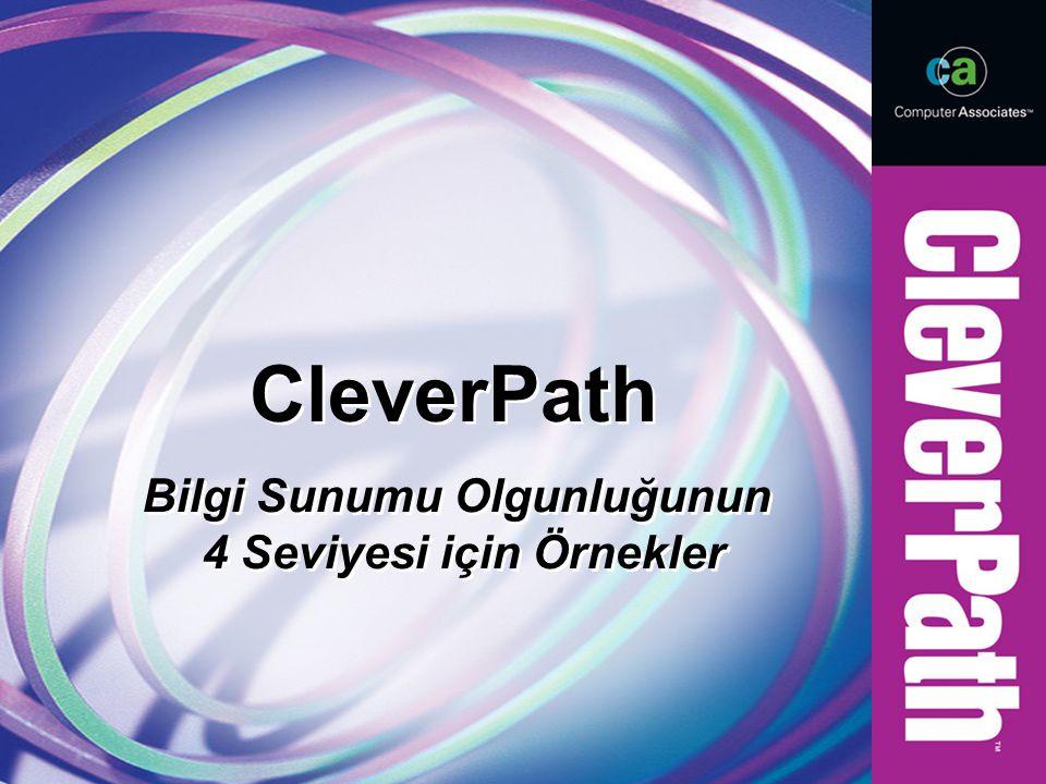 CleverPath Bilgi Sunumu Olgunluğunun 4 Seviyesi için Örnekler Bilgi Sunumu Olgunluğunun 4 Seviyesi için Örnekler