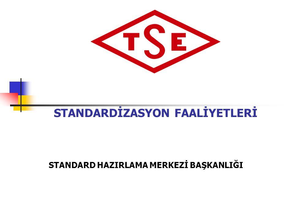 25.06.2014 Standard Hazırlama Merkezi Başkanlığı 22 Öncelikli Konuların Belirlenmesi •Avrupa Standardları •Uluslararası Standardlar •Sistematik Gözden Geçirme •Bakanlıklar •Kamu kurum ve kuruluşları •Özel sektör kuruluşları •Bilimsel kuruluşlar •Tüketici dernekleri •Mesleki kuruluşlar •Enstitü birimleri İhtisas Grupları Teknik İnceleme TSE Yönetim Kurulu TSE Genel Kurulu Yıllık İş Programı Yıllık İş Programı www.tse.org.tr 1.