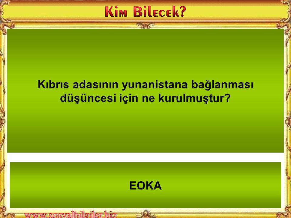 Rumların Kıbrıs adasında tek başına hakim olmasını istediği düşünce nedir? Enosis