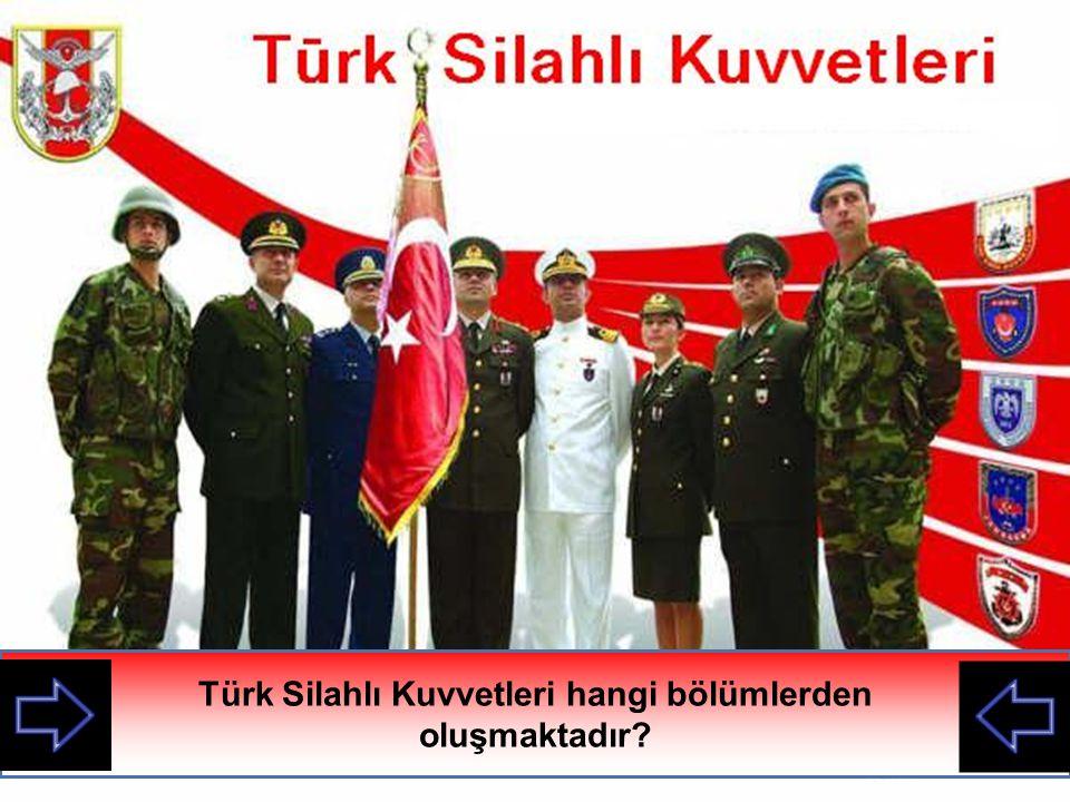 Türk Silahlı Kuvvetleri hangi bölümlerden oluşmaktadır?