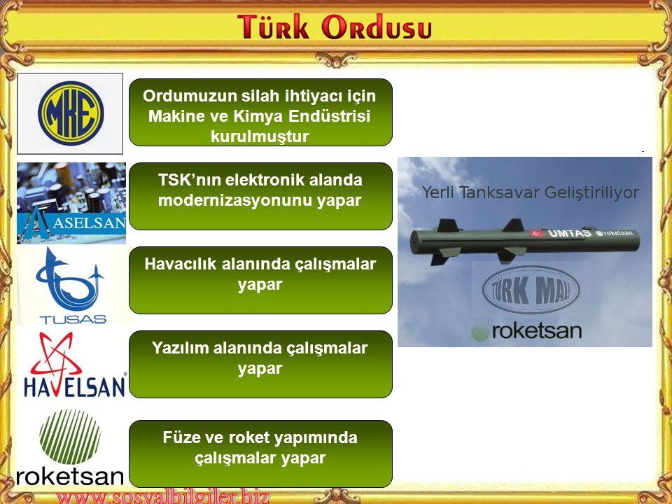 Atatürk'ün bu sözünden ne anlıyorsunuz? Ordumuzun modernizasyonu için hangi kurumlar vardır?