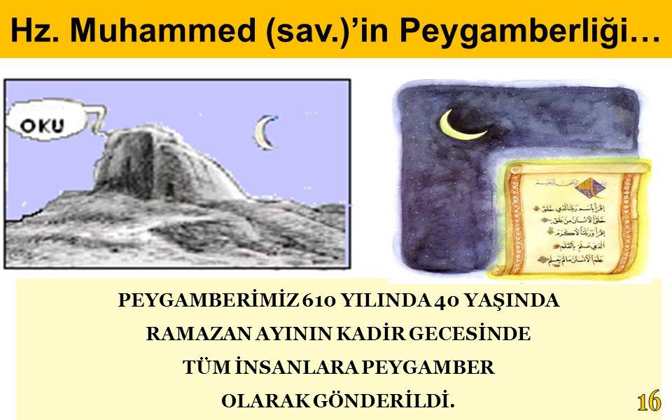 PEYGAMBERİMİZ 610 YILINDA 40 YAŞINDA RAMAZAN AYININ KADİR GECESİNDE TÜM İNSANLARA PEYGAMBER OLARAK GÖNDERİLDİ. Hz. Muhammed (sav.)'in Peygamberliği…