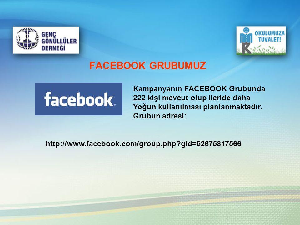 http://www.facebook.com/group.php?gid=52675817566 Kampanyanın FACEBOOK Grubunda 222 kişi mevcut olup ileride daha Yoğun kullanılması planlanmaktadır.