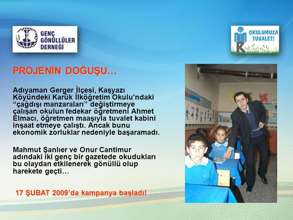 """PROJENİN DOĞUŞU… Adıyaman Gerger İlçesi, Kaşyazı Köyündeki Karük İlköğretim Okulu'ndaki """"çağdışı manzaraları"""" değiştirmeye çalışan okulun fedekar öğre"""