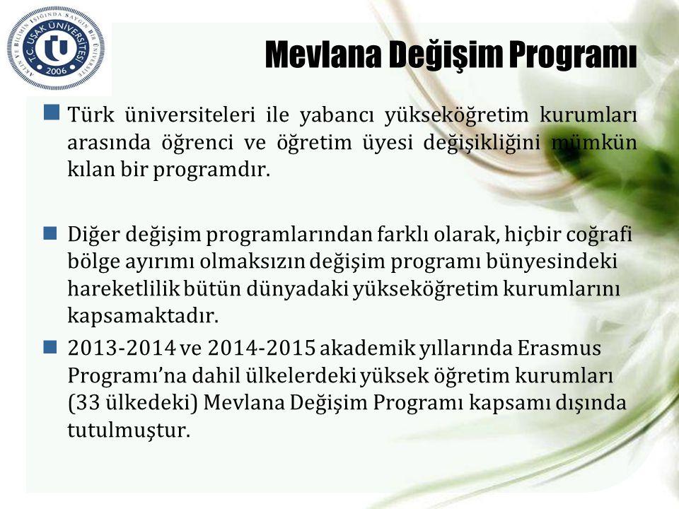  Türk üniversiteleri ile yabancı yükseköğretim kurumları arasında öğrenci ve öğretim üyesi değişikliğini mümkün kılan bir programdır.  Diğer değişim