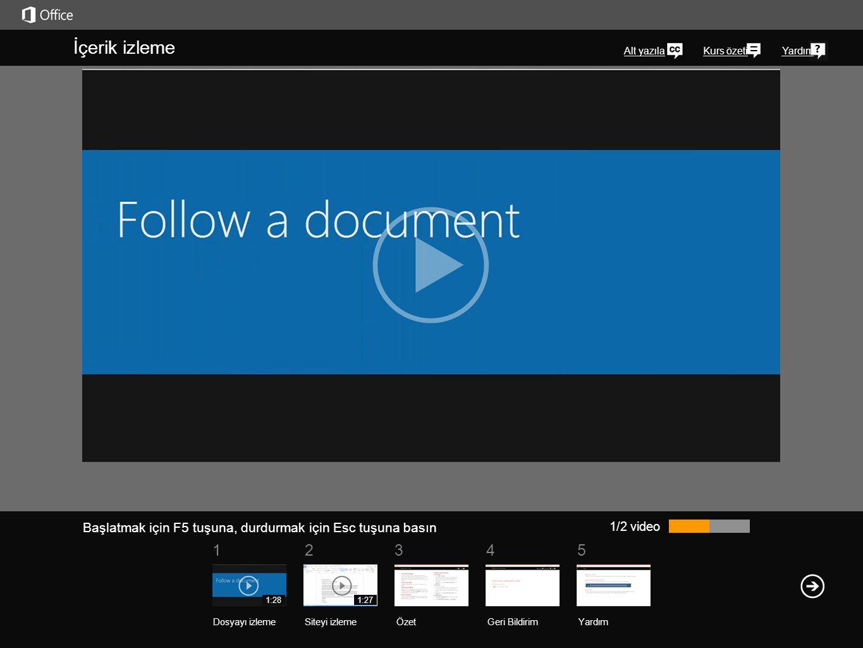 51 234 Kurs özetiYardım SkyDrive Pro kitaplığınızdaki belgeleri ve diğer öğeleri izlemenin kolay bir yolu, bu öğelerden birini takip etmektir. Kişisel