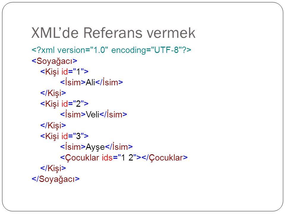 XML'de Referans vermek Ali Veli Ayşe