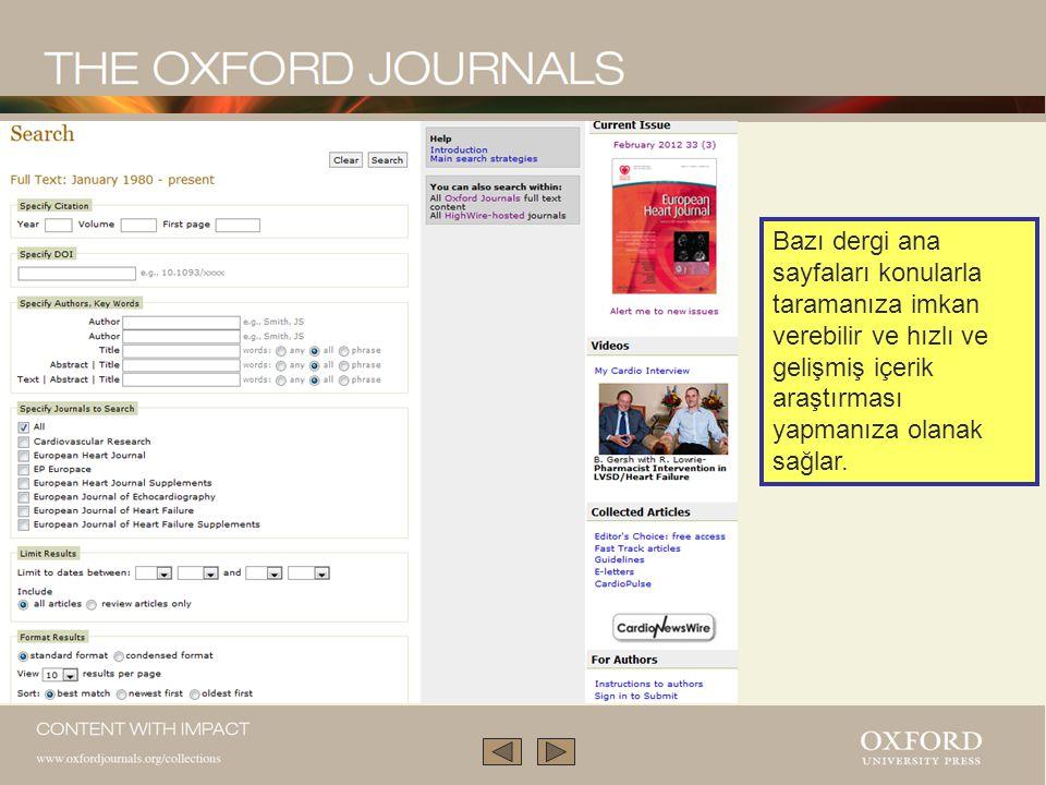 Tüm dergilere mobil aygıtlardan erişilebilir.