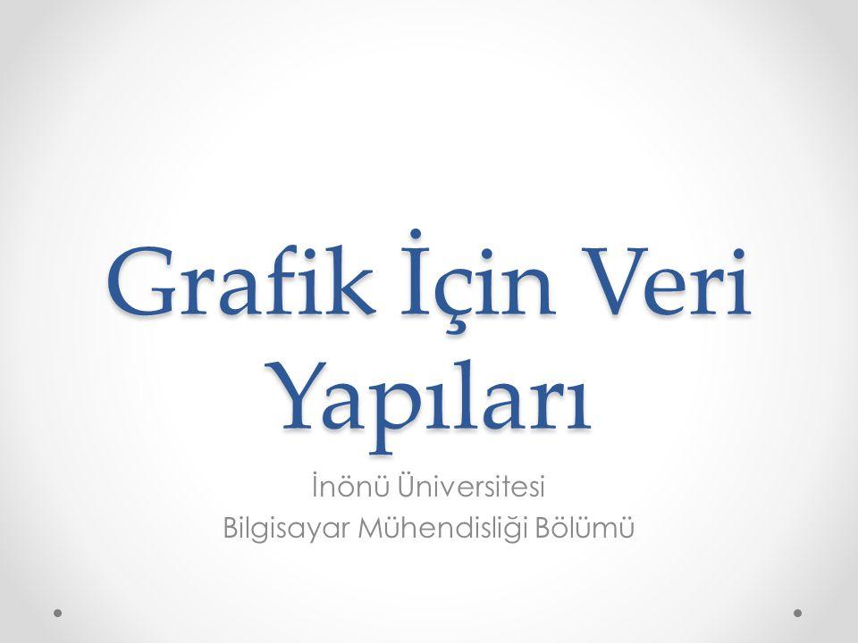 Grafik İçin Veri Yapıları İnönü Üniversitesi Bilgisayar Mühendisliği Bölümü