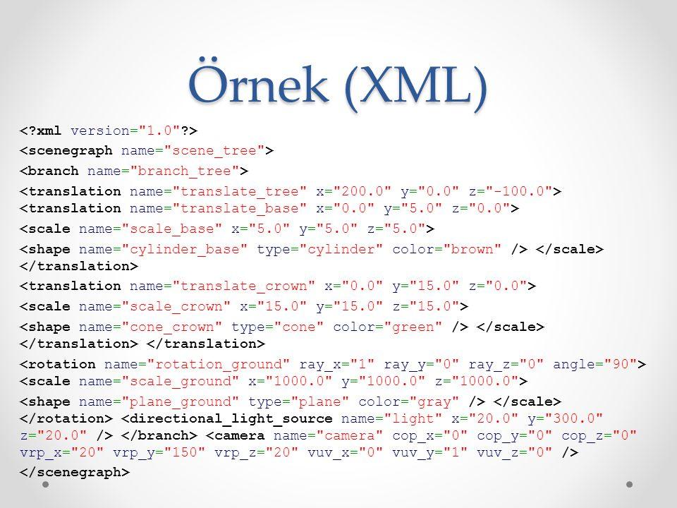 Örnek (XML)