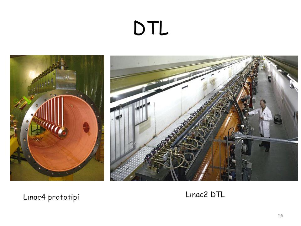 DTL 26 Lınac4 prototipi Lınac2 DTL