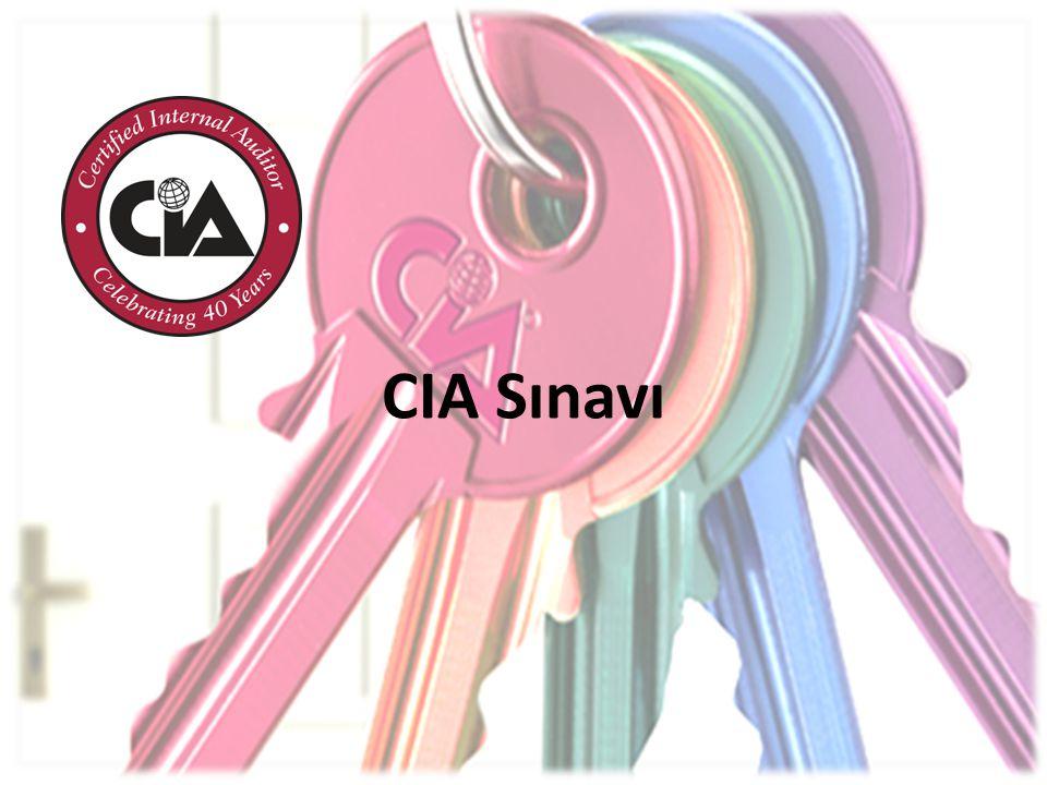 CIA Sınavı hakkında daha fazla bilgiyi http://www.tide.org.tr adresinden ulaşabileceğiniz Sertifikasyon Aday El Kitabı'nda bulabilirsiniz.http://www.tide.org.tr