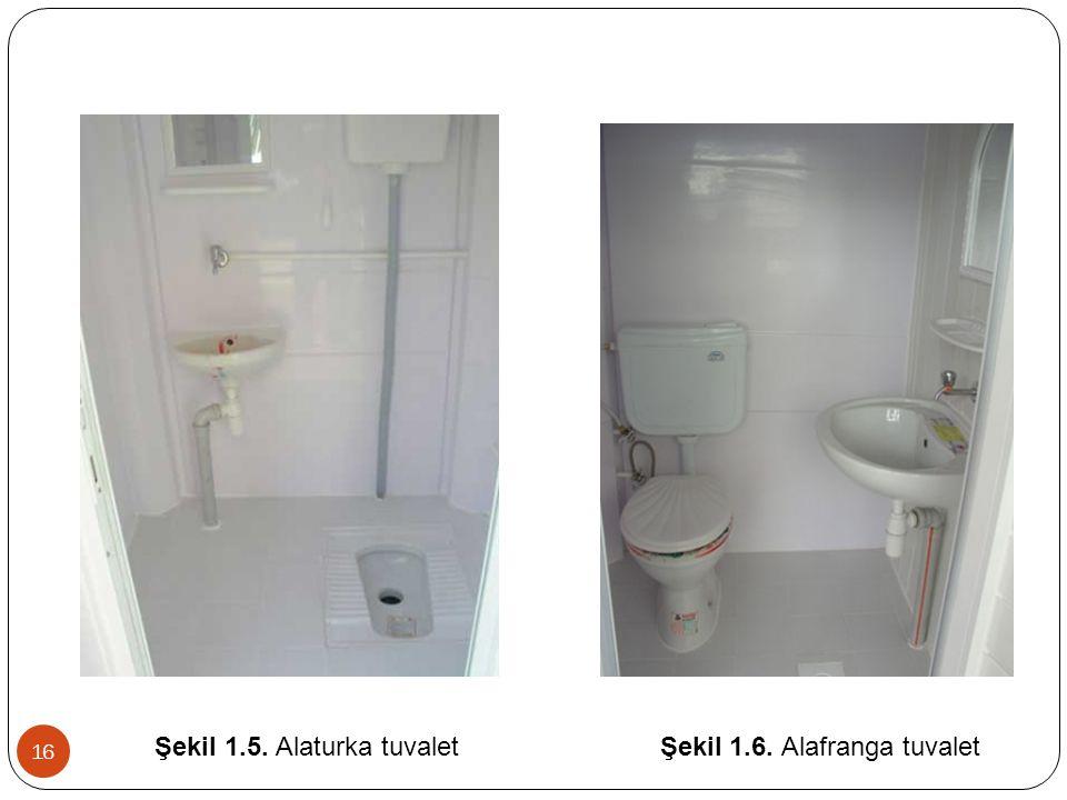 Şekil 1.5. Alaturka tuvalet Şekil 1.6. Alafranga tuvalet 16
