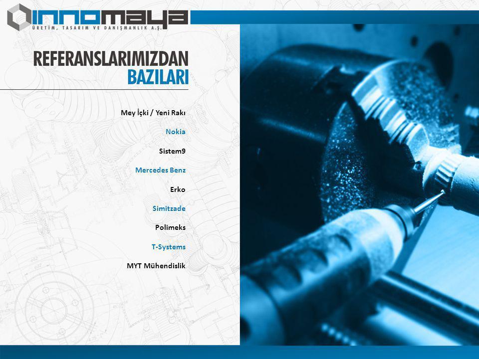 Mey İçki / Yeni Rakı Nokia Sistem9 Mercedes Benz Erko Simitzade Polimeks T-Systems MYT Mühendislik