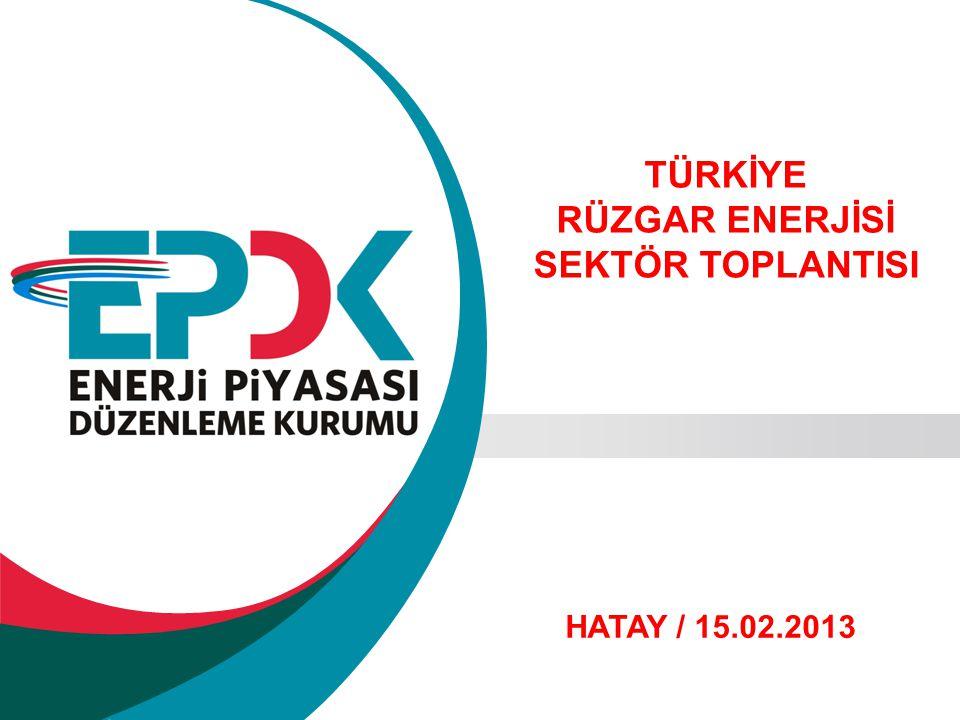 TÜRKİYE RÜZGAR ENERJİSİ SEKTÖR TOPLANTISI HATAY / 15.02.2013