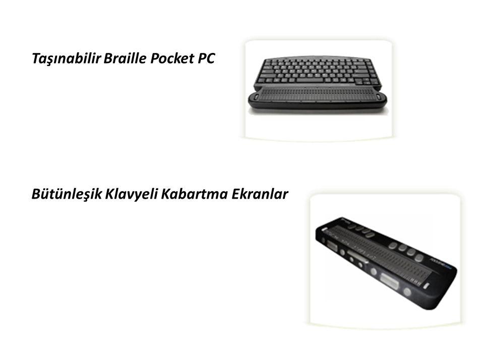 Taşınabilir Braille Pocket PC Bütünleşik Klavyeli Kabartma Ekranlar