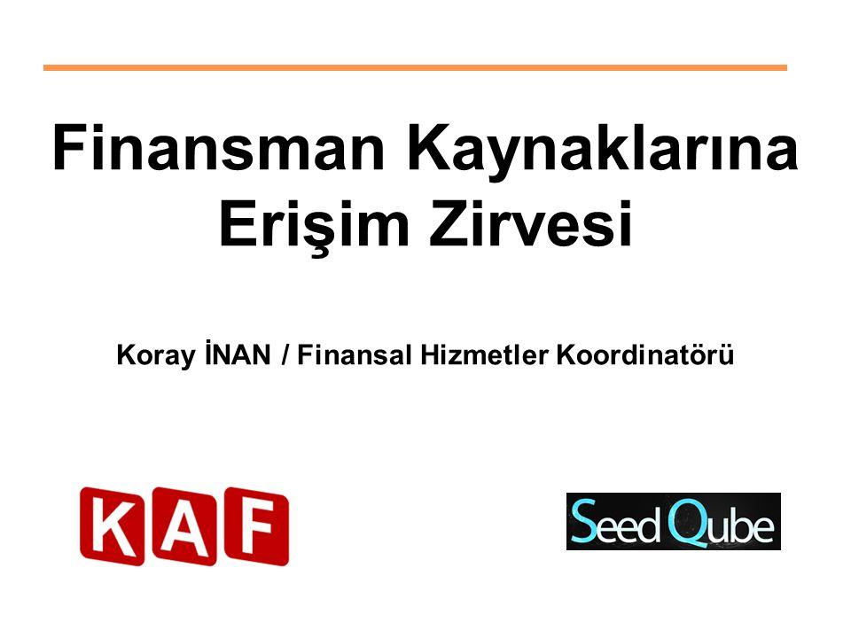 Finansman Kaynaklarına Erişim Zirvesi Koray İNAN / Finansal Hizmetler Koordinatörü