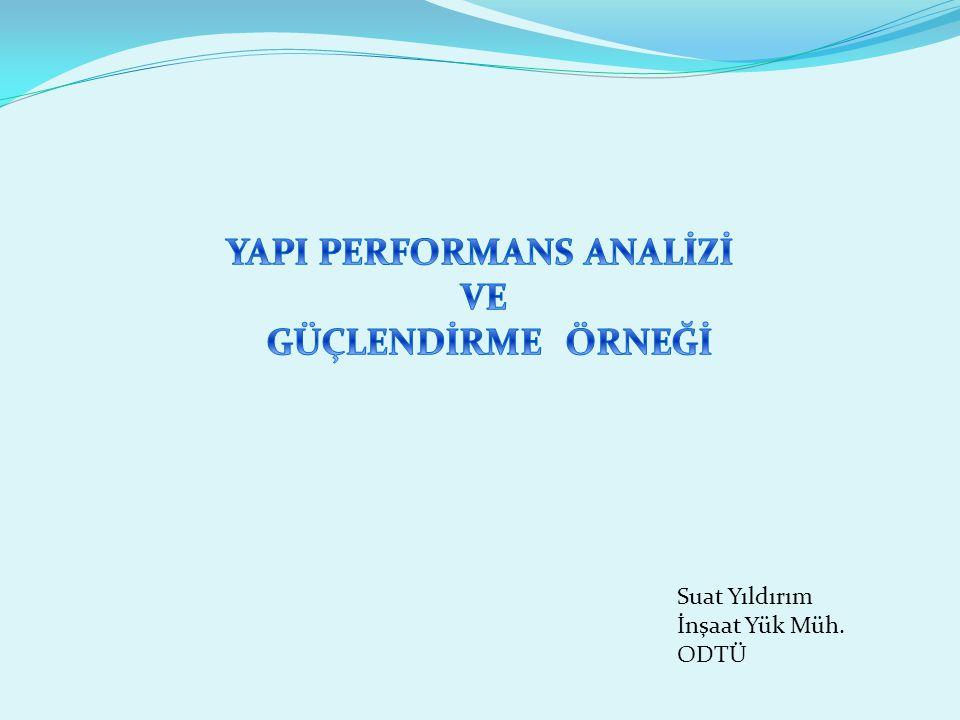 Performans Analizi: Örnek Kolon Analiz Sonuçları Kolon Performans Analizi Sonuçları Kolon Hasar Durumu