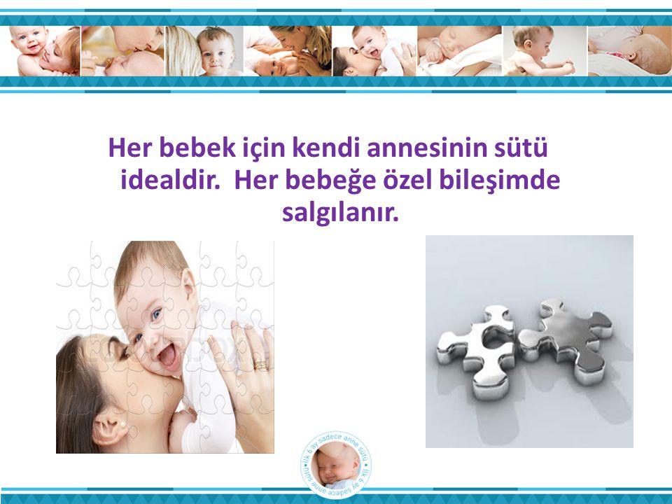 Her bebek için kendi annesinin sütü idealdir. Her bebeğe özel bileşimde salgılanır.