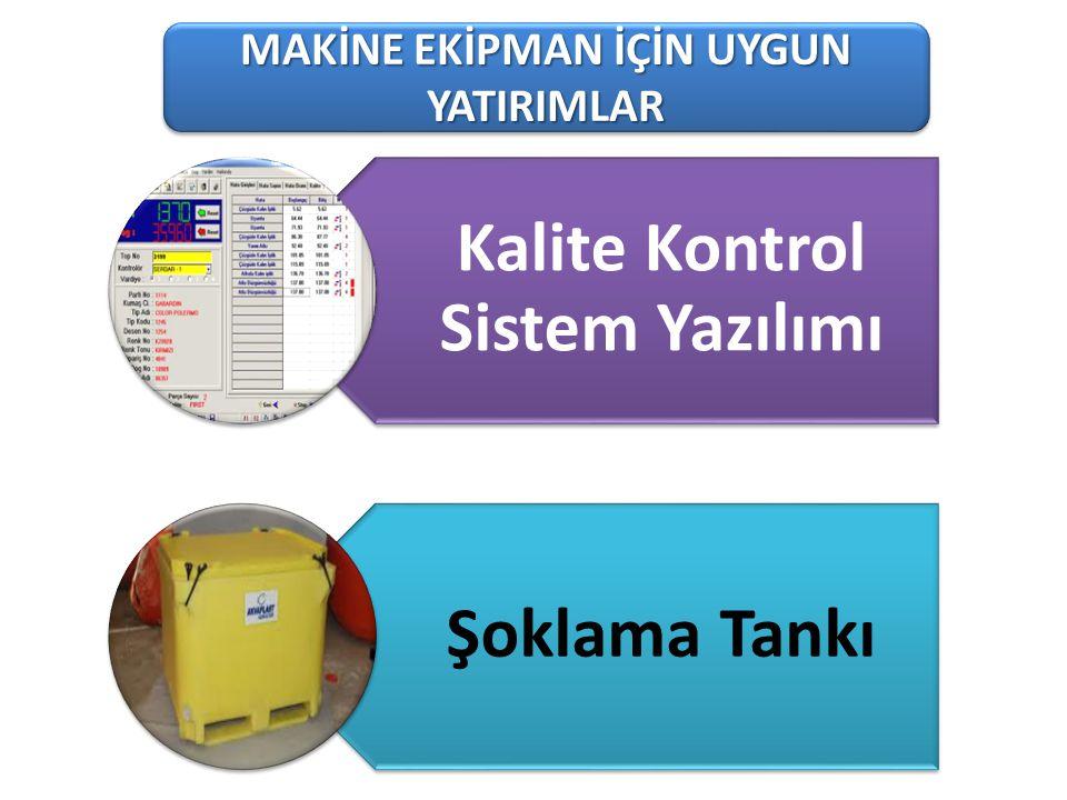 101-1 Süt Üreten Tarımsal İşletmeler MAKİNE EKİPMAN İÇİN UYGUN YATIRIMLAR Kalite Kontrol Sistem Yazılımı Şoklama Tankı