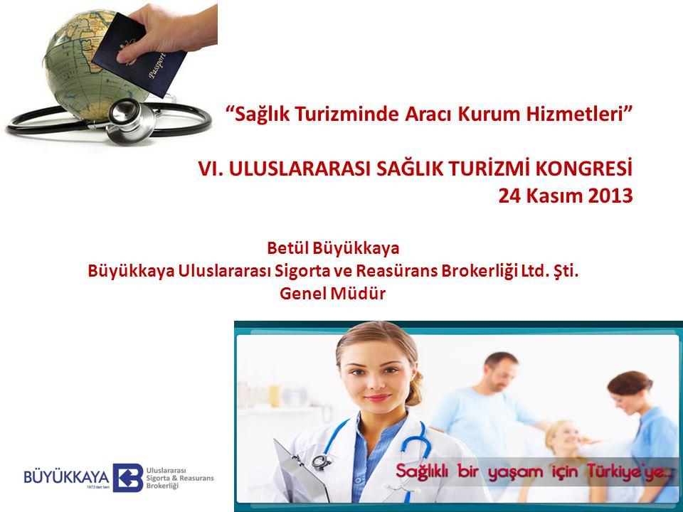 Sağlık Turizminde Aracı Kurum Hizmetleri VI.
