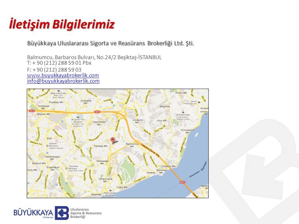 İletişim Bilgilerimiz Büyükkaya Uluslararası Sigorta ve Reasürans Brokerliği Ltd.