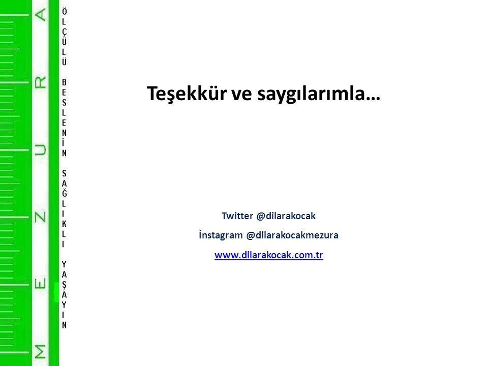 Teşekkür ve saygılarımla… Twitter @dilarakocak İnstagram @dilarakocakmezura www.dilarakocak.com.tr