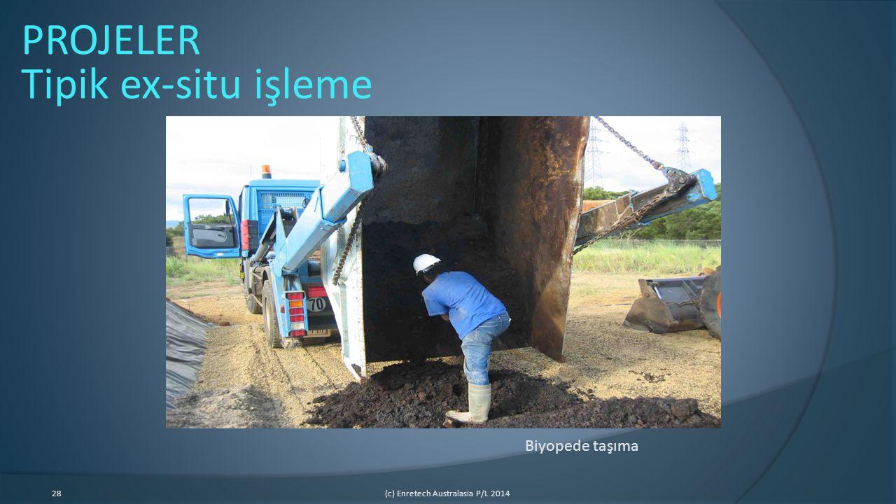 28(c) Enretech Australasia P/L 2014 Biyopede taşıma PROJELER Tipik ex-situ işleme
