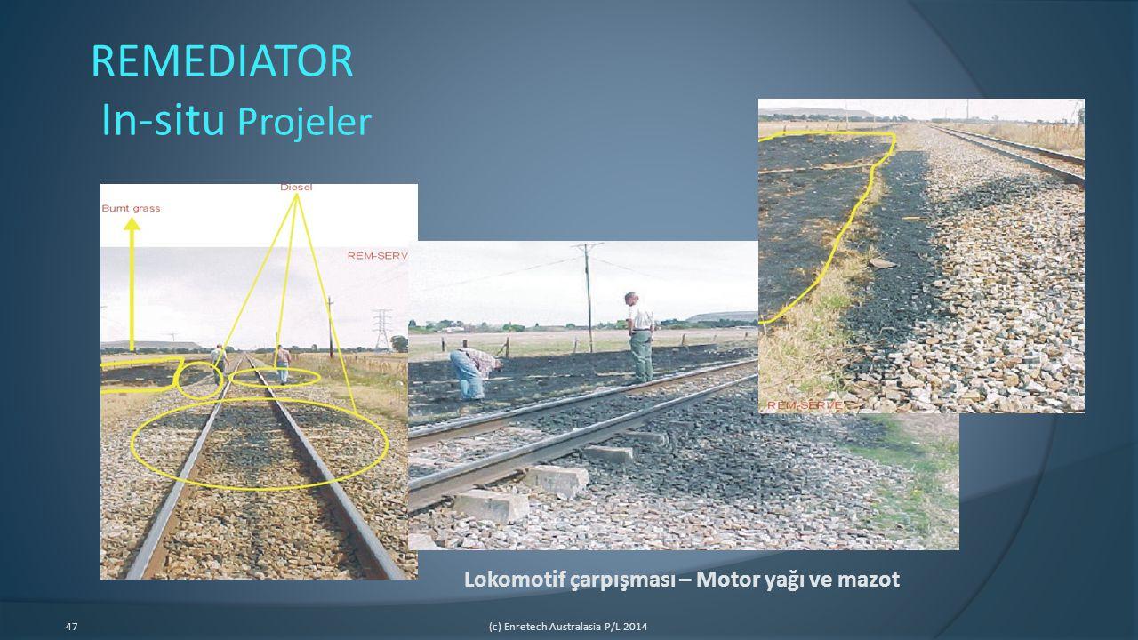 47(c) Enretech Australasia P/L 2014 Lokomotif çarpışması – Motor yağı ve mazot REMEDIATOR In-situ Projeler