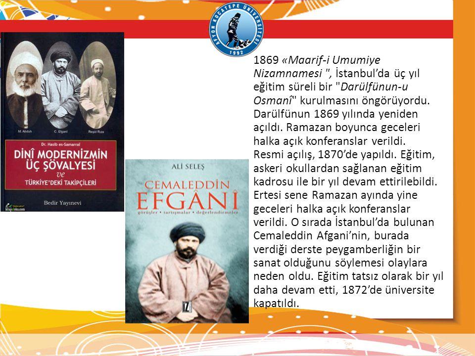 1869 «Maarif-i Umumiye Nizamnamesi