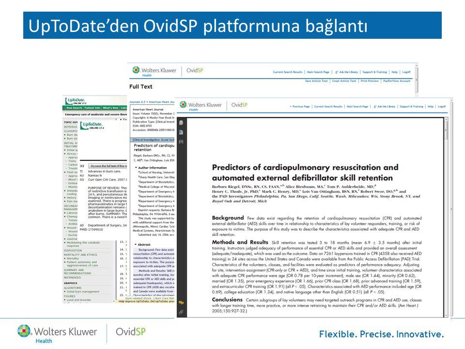 Flexible. Precise. Innovative. UpToDate'den OvidSP platformuna bağlantı