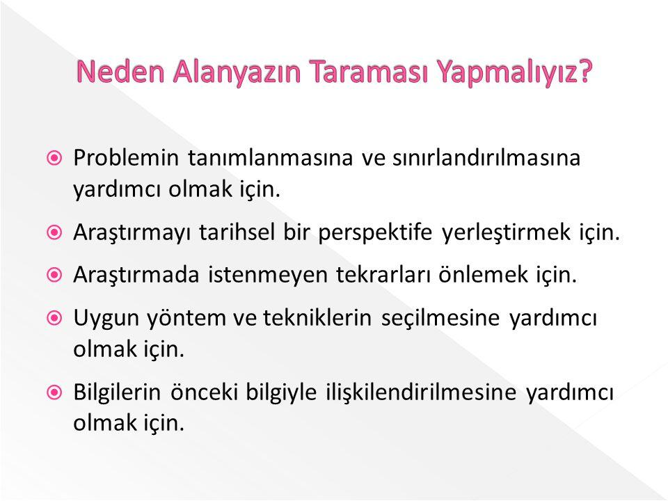  Türkiye'deki ve dünyadaki akademik yayınları tarayan bir sistemdir.