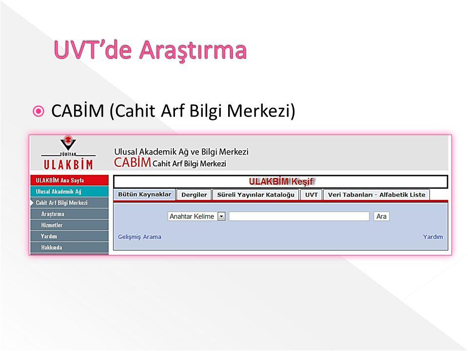  CABİM (Cahit Arf Bilgi Merkezi)