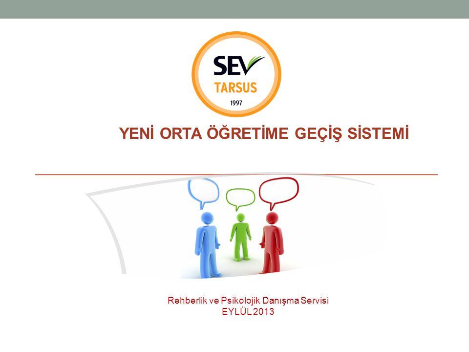 YENİ ORTA ÖĞRETİME GEÇİŞ SİSTEMİ Rehberlik ve Psikolojik Danışma Servisi EYLÜL 2013