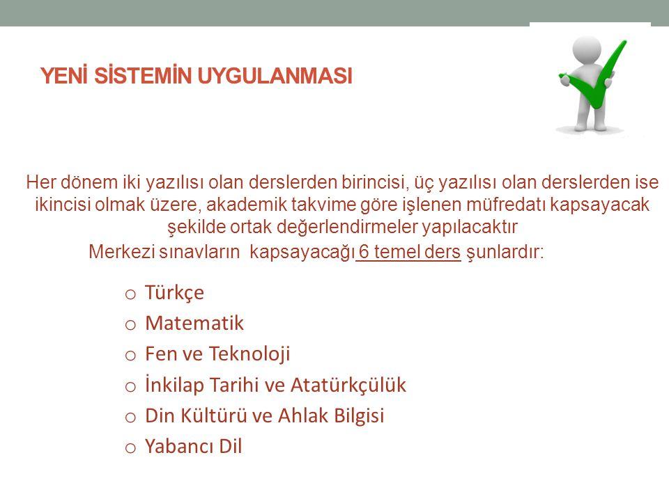 ORTA VADEDE YAPILMASI DÜŞÜNÜLEN DEĞİŞİKLİKLER  5.