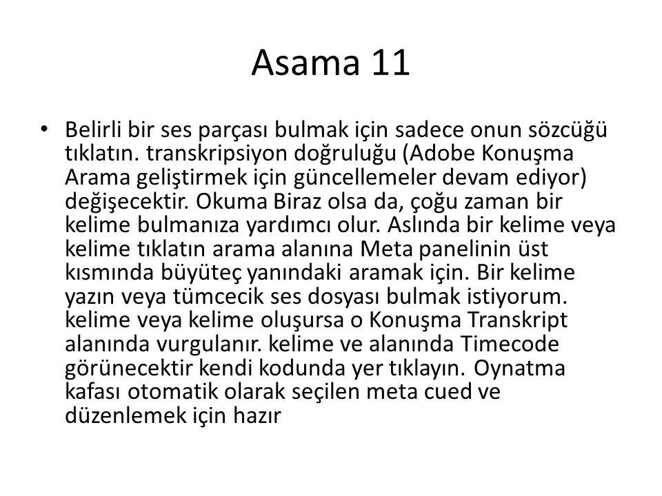 Asama 11 • Belirli bir ses parçası bulmak için sadece onun sözcüğü tıklatın.