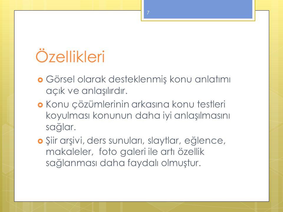 Diğer Siteler  http://www.edebiyatogretmeni.net/ ders_notlari.htm http://www.edebiyatogretmeni.net/ ders_notlari.htm  http://www.turkcedersi.gen.tr/ http://www.turkcedersi.gen.tr/  http://www.dersimizturkce.gen.tr/ http://www.dersimizturkce.gen.tr/  www.edebiyathocam.com www.edebiyathocam.com  http://www.turkcesinifi.com/ http://www.turkcesinifi.com/  http://www.ekolhoca.com/index.asp http://www.ekolhoca.com/index.asp  http://www.turkceogretmeniyim.net http://www.turkceogretmeniyim.net  http://www.dersizlesene.com/ http://www.dersizlesene.com/ 8