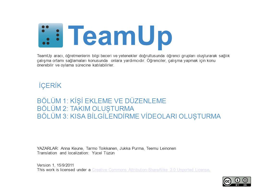 Bölüm 3: Kısa bilgilendirme videoları yükleme team viewrecorded documentation
