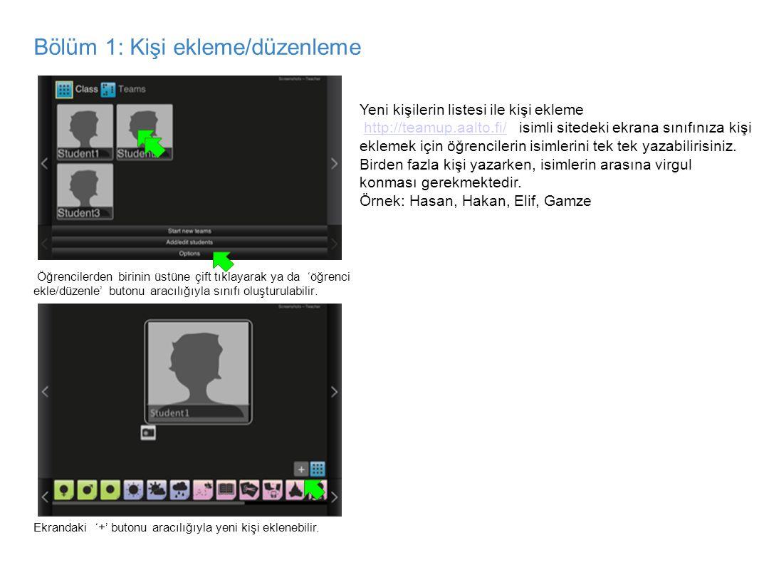 Bölüm 1: Kişi ekleme/düzenleme add/edit learners view, camera icon highlighted add/edit learners view, name highlighted Öğrencilerden birinin üstüne ç