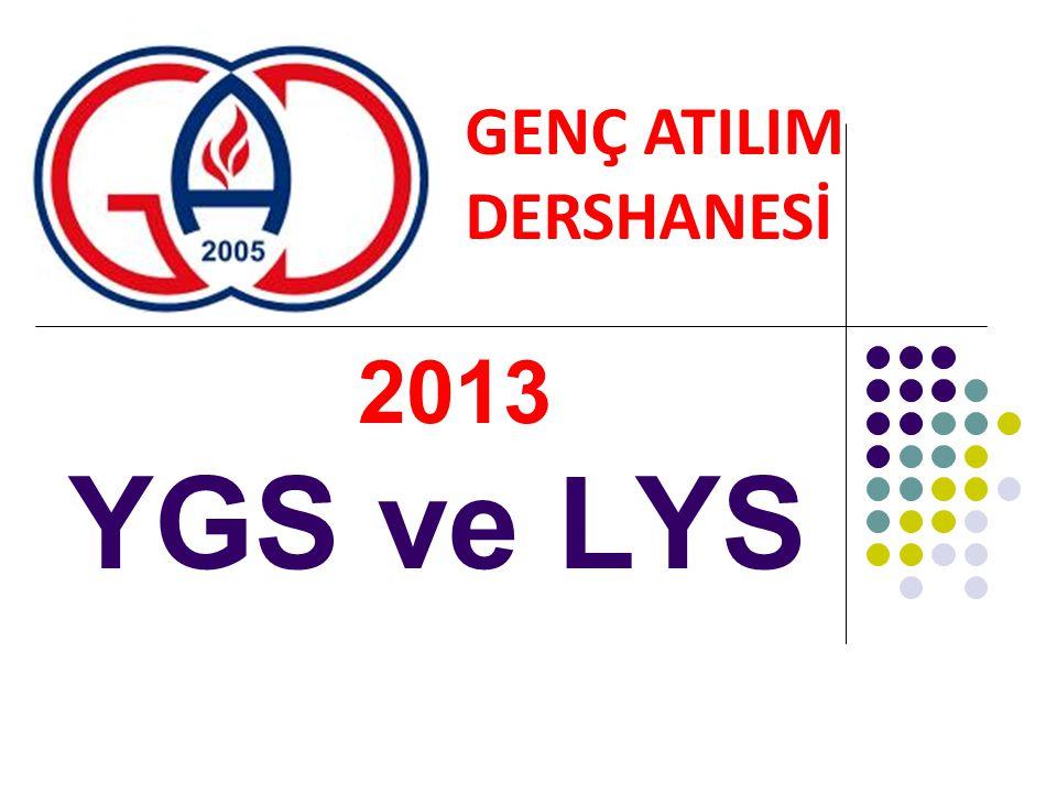 2013 YGS ve LYS GENÇ ATILIM DERSHANESİ