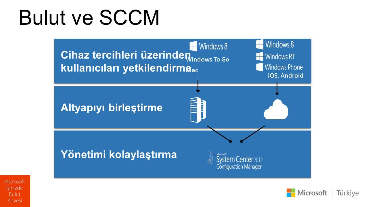 Bulut ve SCCM Cihaz tercihleri üzerinden kullanıcıları yetkilendirme Cihaz tercihleri üzerinden kullanıcıları yetkilendirme Yönetimi kolaylaştırma Alt