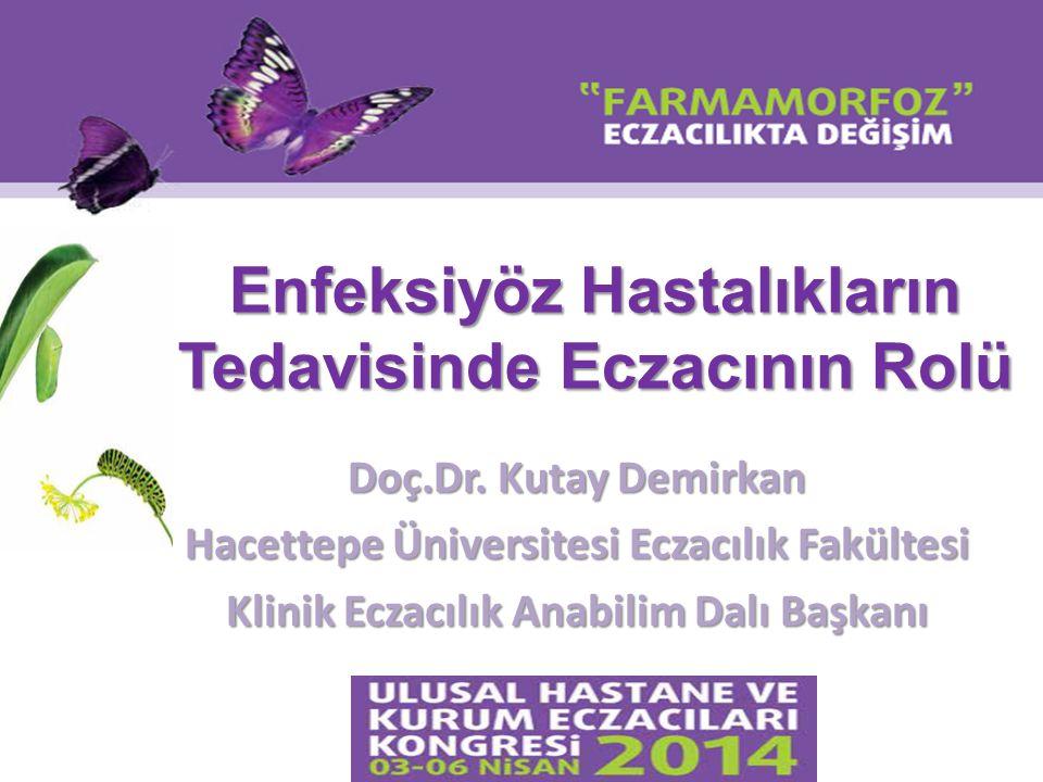 Enfeksiyöz Hastalıkların Tedavisinde Eczacının Rolü Doç.Dr. Kutay Demirkan Hacettepe Üniversitesi Eczacılık Fakültesi Klinik Eczacılık Anabilim Dalı B